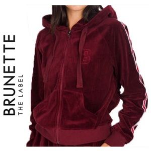 BRUNETTE THE LABEL   Varsity Velour Zip XS / S